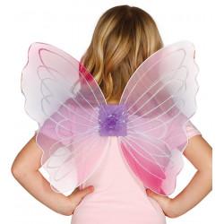 Alas rosa mariposa