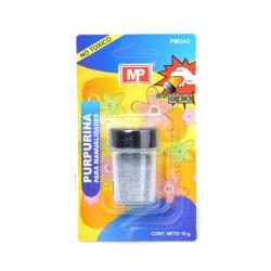 Purpurina Plata Holográfica para Manualidades, 10 gramos