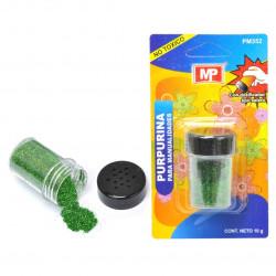Purpurina verde para manualidades 10gr