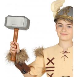 Martillo vikingo PVC para disfraz. Mjolnir de Thor