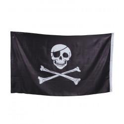 Bandera pirata negra 90x150cms