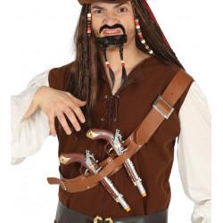 Cinturón pirata con 2 pistolas