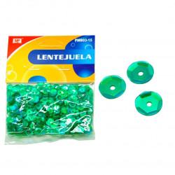 Lentejuelas verde esmeralda para manualidades, 11 gramos
