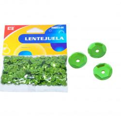 Lentejuelas Verde Manzana para Manualidades, 11 gramos