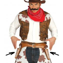 Cartuchera cowboy doble con pistolas