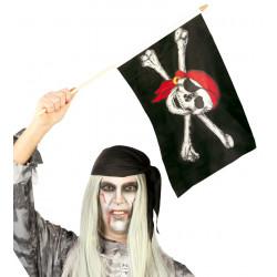 Bandera pirata con calavera