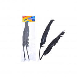 Plumas de Ganso Negras de 30 cm para Manualidades