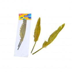 Plumas de Ganso, Verde Oliva para Manualidades