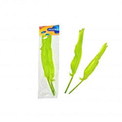 Plumas de Ganso, Verde Fluorescente. Plumas para manualidades