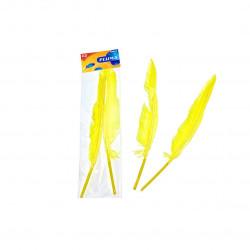 Plumas de Ganso, Amarillo Fluorescente. Plumas de 30 cm para manualidades