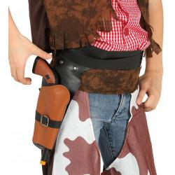 Cartuchera cowboy con pistola, infantil