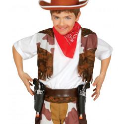 Cartuchera cowboy infantil con dos pistolas