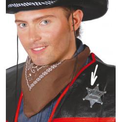 Estrella de sheriff metálica. Placa de cowboy de metal