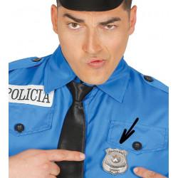 Placa de policía metálica