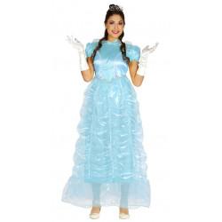Disfraz de princesa de cuento adulta.Vestido de cenicienta