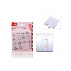 Base Acrílica Para Sellos, 8cm. Metacrilato para sellos de silicona