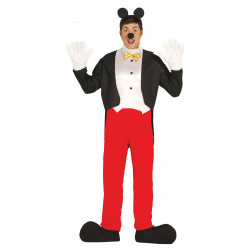 Disfraz de ratoncito adulto. Disfraz de Mickey Mouse para adulto