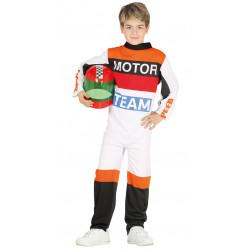 Disfraz de piloto de motos infantil. Traje de carreras MotoGP para niño