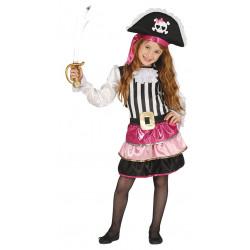 Disfraz de Pirata Rosa Infantil - Disfraz de bucanera para niña
