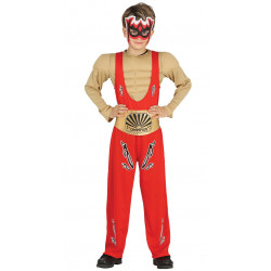 Disfraz de luchador infantil. Traje de lucha libre para niño