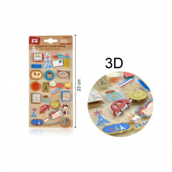Set 30 Pegatinas de Francia, 3D Mp
