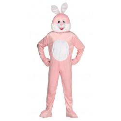 Disfraz de conejo rosa de lujo para adulto
