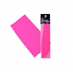 Papel Crespón Rosa Fluorescente, Mp