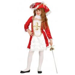 Disfraz de mosquetera infantil para niña
