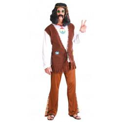 Disfraz de hippie flower para adulto