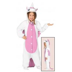 Disfraz de Unicornio Rosa Infantil - Pijama de Unicornio para Niña.