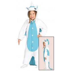Disfraz de Unicornio Azul Infantil - Pijama de Unicornio para niña