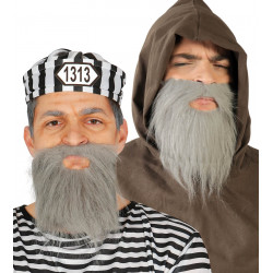Barba canosa media. Barba gris de prisionero