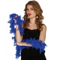 Boa pluma azul