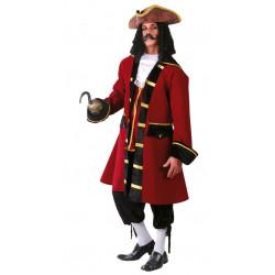 Capitán pirata rojo adulto