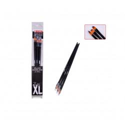 Pinceles Para Óleo Talla XL, 3 Unidades