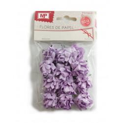 Flores de Papel Pequeñas, 12 Unidades Lila. Rosas para Scrapbooking