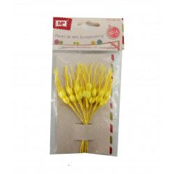 Set de Espigas Amarillas, 12 Unidades. Ramo de papel Scrapbooking