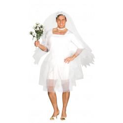 Disfraz de novia hombre para despedidas de soltero y carnavales
