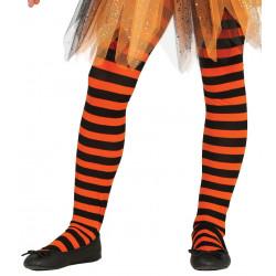 Panty Infantil, Negro/Naranja