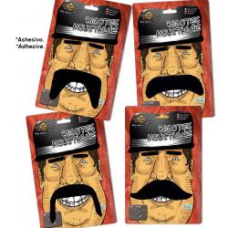 Set de 10 bigotes negros surtidos