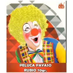 Peluca de Payaso de color Rubio, 70gr