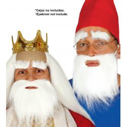 Barba blanca corta de rey