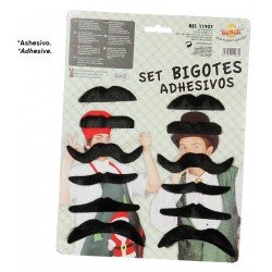 Cartón 12 bigotes surtidos