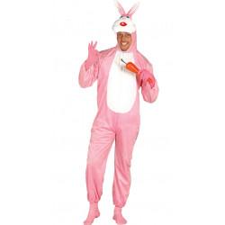 Disfraz de conejo rosa adulto. Disfraz de conejo de pascua para adulto