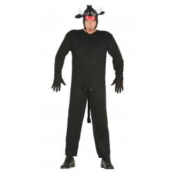 Disfraz de toro negro para adulto