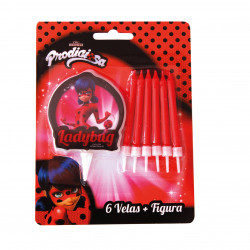 Velas + Soporte, Ladybug