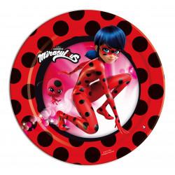 Platos Ladybug, 8 Unidades
