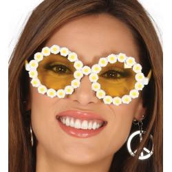 Gafas hippie con margaritas
