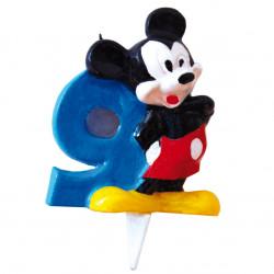 Vela Mickey Mouse Nº 9