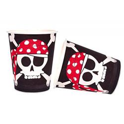 Vasos Pirata, 8 Unidades